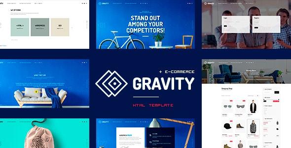 Gravity - ECommerce, Agency & Presentation HTML Template - Portfolio Creative