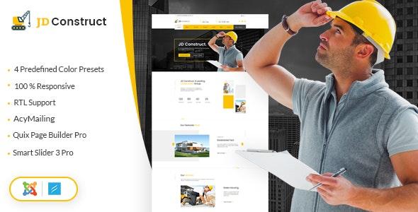 JD Construct - Industrial Joomla Template - Joomla CMS Themes