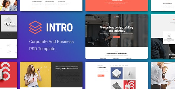 Intro - Corporate And Business PSD Template - Corporate Photoshop
