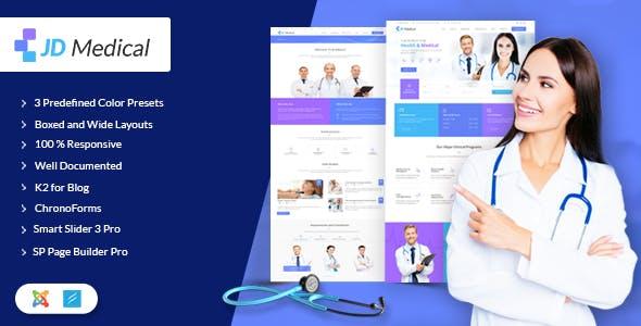 JD Medical - Responsive Healthcare Joomla Template