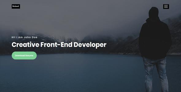 Roland-Personal Portfolio HTML Template - Portfolio Creative