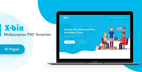 X-bix - Multipurpose PSD Template - Photoshop UI Templates