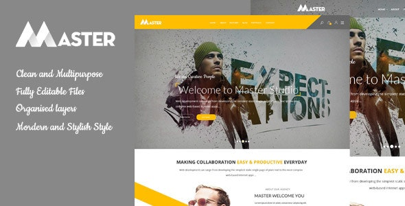 Master - Ultimate Multipurpose PSD Template - Creative Photoshop