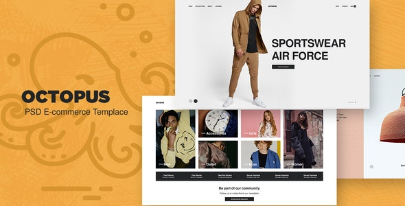 Octopus - eCommerce PSD Template - Shopping Retail
