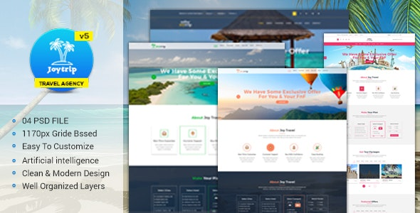 Travel Agency Website >> Joytrip Travel Agency Website Template By Sabbirmc Themeforest