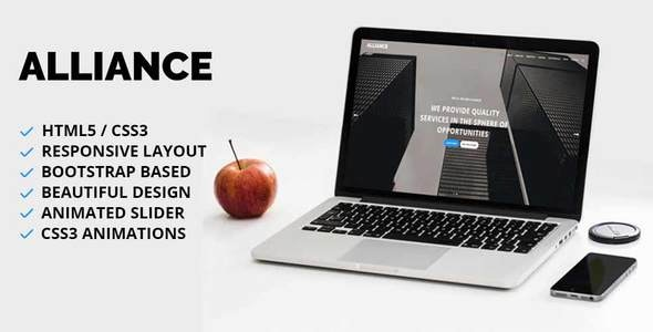 Alliance - Creative One Page Template - Creative Site Templates