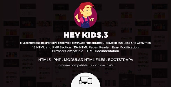 Hey Kids - Responsive Multipurpose Children Web - Children Retail