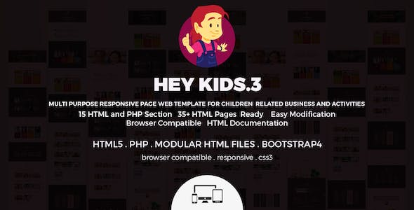 Hey Kids - Responsive Multipurpose Children Web