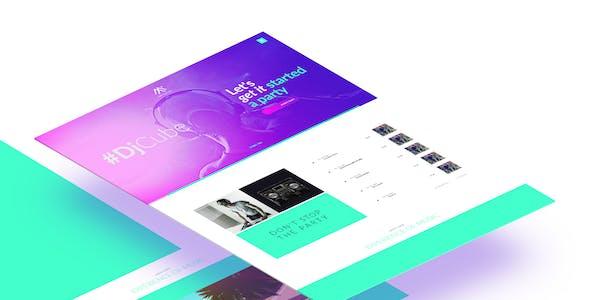 DJ Cube Musican (artist) site