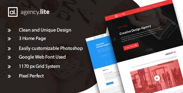 Agency Lite - Agency and Business Template - Corporate Photoshop