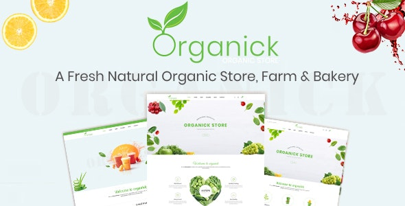 Organick - A Fresh Natural Organic Store, Farm and Bakery Prestashop Theme V1.6 and V1.7 - Health & Beauty PrestaShop