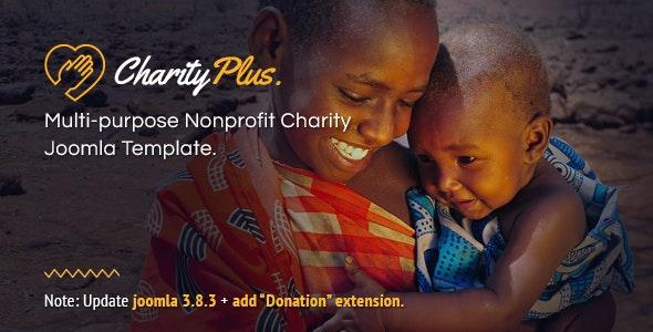 CharityPlus - Multipurpose Nonprofit Charity Joomla Template - Charity Nonprofit