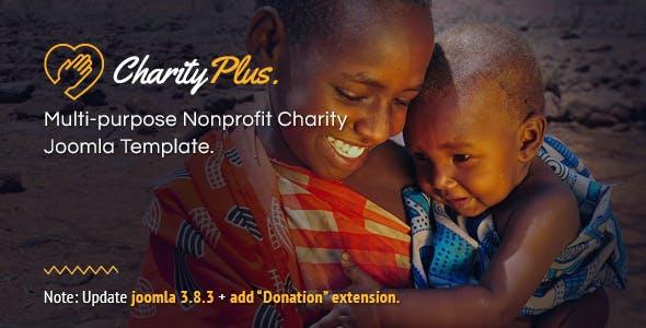 CharityPlus - Multipurpose Nonprofit Charity Joomla Template