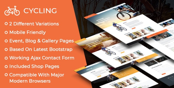 Cycling Multipurpose Responsive HTML Template - Events Entertainment