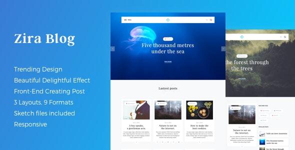 Zira - Modern Looking Blogging Theme - Blog / Magazine WordPress