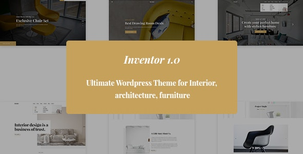 Inventor- Architechture and Furniture Interior HTML5 Template - Creative Site Templates