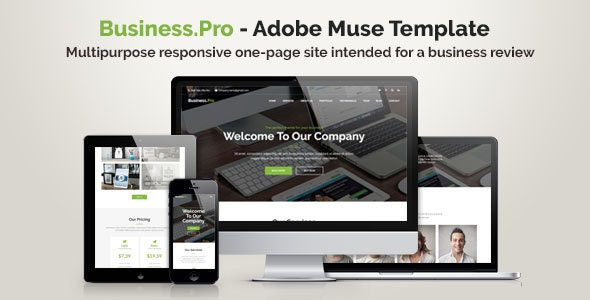Business.Pro | Adobe Muse Template - Corporate Muse Templates