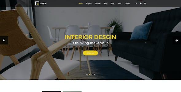Arch - Interior Design and Decor PSD Template