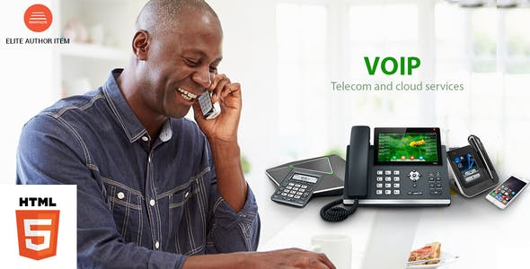 VOIP, Telecom and Cloud Services HTML Template