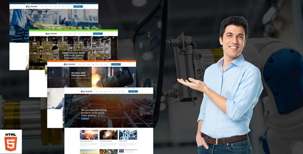 Manufacturing - Factory & Industrial Business HTML Template - Business Corporate