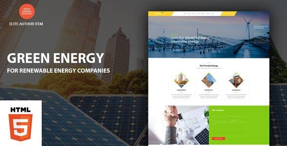Green Energy - For Renewable Energy Company HTML Template