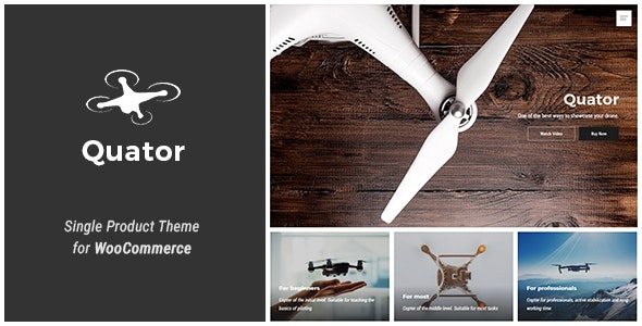 Quator - Single Product WordPress Theme - WooCommerce eCommerce
