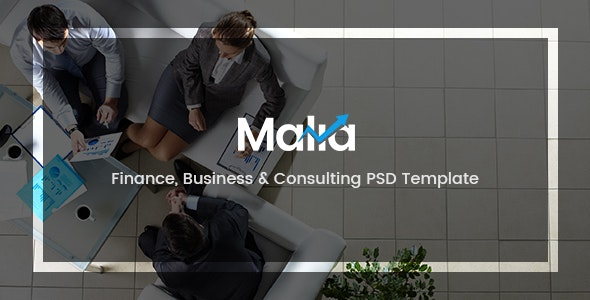 Malia - Finance, Business & Consulting PSD Template - Business Corporate