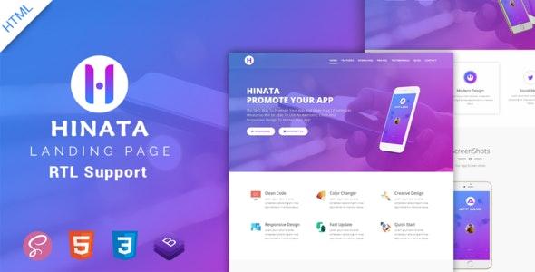 Hinata   App Landing Page - Technology Site Templates