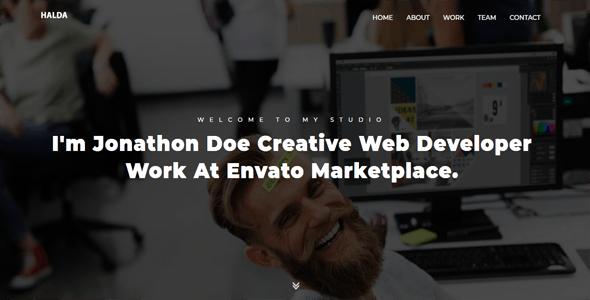 Halda - Creative Portfolio HTML Template - Portfolio Creative