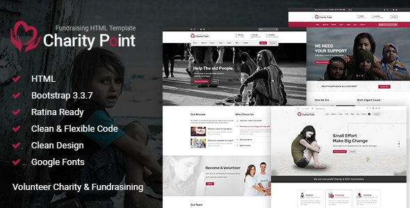 Charity Point - Charity & Fund Raising HTML Template - Charity Nonprofit
