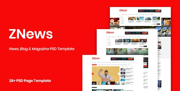ZNews - News, Blog & Magazine PSD Template - Miscellaneous Photoshop