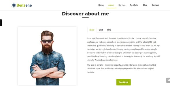 HTML Personal HTML Website Templates from ThemeForest (Page 5)