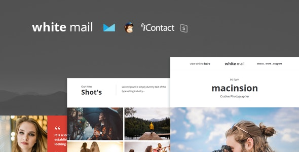 White Mail - Responsive E-mail Template + Online Access - Email Templates Marketing