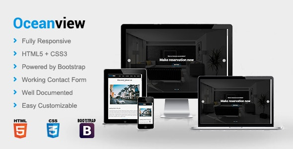 Oceanview - Hotel HTML Template - Travel Retail