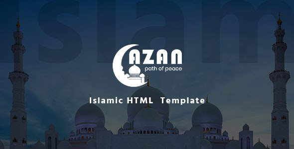 Azan - Islamic Center Responsive HTML Template by HasTech | ThemeForest