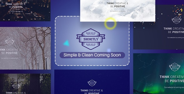 Shortly - Simple & Clean Coming Soon Template - Under Construction Specialty Pages
