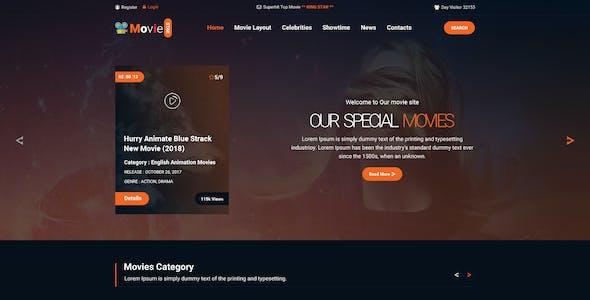 MOVIE STAR  - Online Movie, Video & TV Show PSD Template