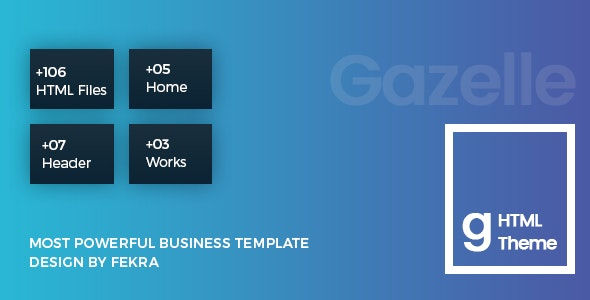 Gazelle - Multipurpose HTML5 For Business - Corporate Site Templates