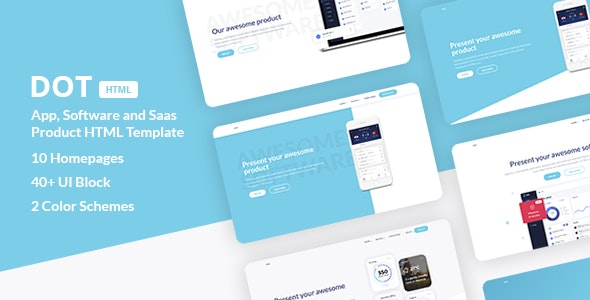 Dot - App, Software and SaaS Product HTML Template - Software Technology