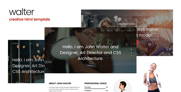 Walter - Creative Personal HTML Template - Personal Site Templates