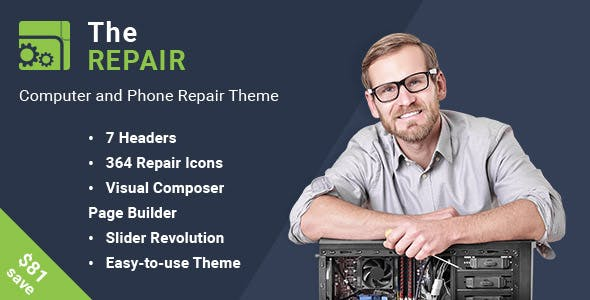The Repair - Computer and Electronic WordPress Theme
