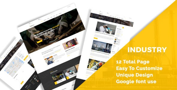 Industry - Industral , Engineering & Factory HTML5 Responsive Template - Business Corporate