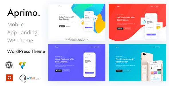 Aprimo - Mobile & App Landing WordPress Theme - Marketing Corporate