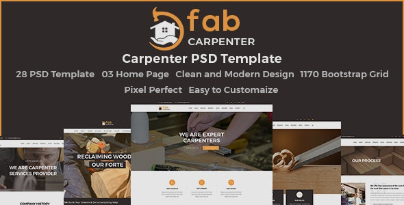 Fab Carpenter - PSD Template - Business Corporate