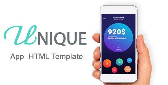 Unique - One Page App HTML5 Template - Creative Site Templates