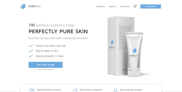 PureSkin - Single Product / Ecommerce / Bootstrap / PSD Template