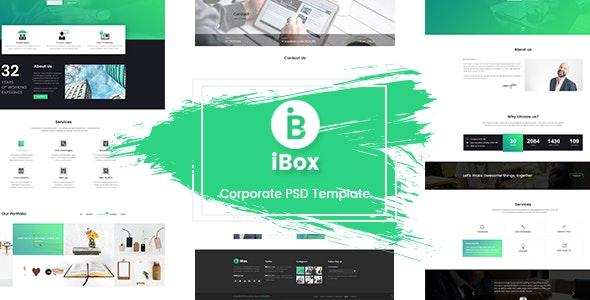 Ibox - Corporate Business PSD Template - Corporate Photoshop
