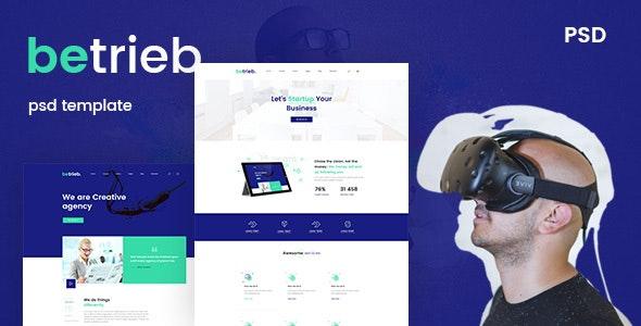 Betrieb- Creative business PSD Template - Business Corporate