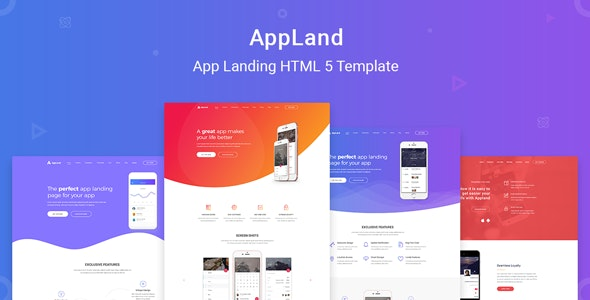 Appland - Creative App Landing & Multipage HTML5 Template - Technology Site Templates