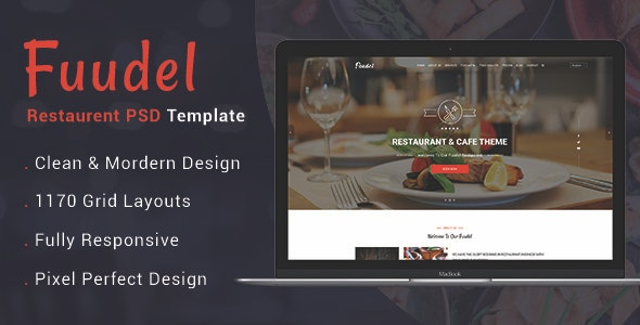 Fuudel - Restaurant PSD Template - Business Corporate